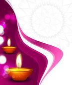Vector beautiful diwali festival colorful wave celebration card — Stock Vector