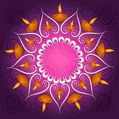 Decoração colorida diwali diya celebração fantástica brilhante ve — Vetor de Stock