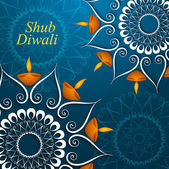 Celebration colorful decoration Diwali diya beautiful vector des — Stockvektor