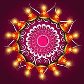 Vector beautiful diwali festival cracker colorful fantastic back — Stock Vector