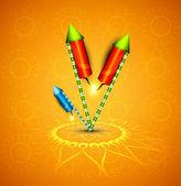 Beautiful glowing festival cracker on artistic design vector — Stock Vector