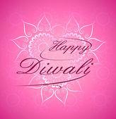 Celebration in India festival beautiful text happy diwali backgr — Stock Vector