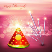 Beautiful diwali cracker colorful festival background — Stock Vector
