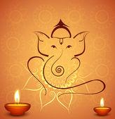 Beautiful diwali celebration Hindu Lord Ganesha festival colorfu — Stock Vector