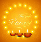 Beautiful Happy Diwali text for festival celebration background — Stock Vector