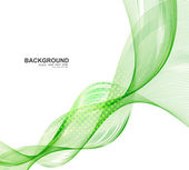 Abstract green business line wave vector whit background — Stockvector
