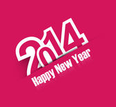 Happy New Year 2014 creative colorful background vector — Stock Vector