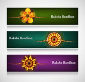 Raksha Bandhan celebration bright colorful headers or banners ve — Stock Vector