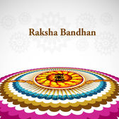Artistic raksha bandhan beautiful design vector — Stock Vector