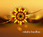 Rakhi hermosa para raksha bandhan brillante celebración colorida v — Vector de stock