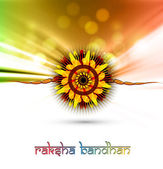 Raksha Bandhan artistic colorful card vector background — Stock Vector
