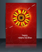 Raksha Bandhan brochure reflection template vector design — Stock Vector