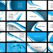 Abstract Various Business Card set collection vector illustratio — Imagens vectoriais em stock