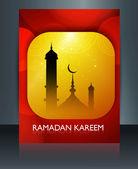 Template brochure ramadan Kareem colorful background vector — Stock Vector