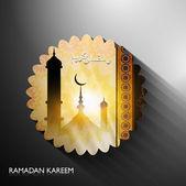 Ramadan kareem islamic colorful card vector design — Stock Vector