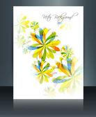 Brochure de coloré floral élégant modèle réflexion vecteur desi — Vecteur