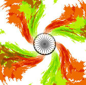 Grunge Indian flag theme swirl wave background vector — Stock Vector