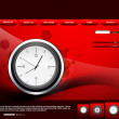 Website template presentation watch bright red colorful vector  — Stock Vector