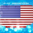 American flag independence day background vector illustration — Stock Vector