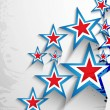 4th of July American Independence Day stars background vector — Stok Vektör