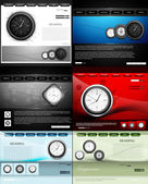 Website template presentation watch collection colorful vector i — Stockvektor