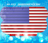 American flag independence day background vector illustration — ストックベクタ