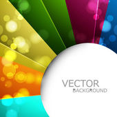 Abstract colorful rainbow circle vector background — Stock Vector