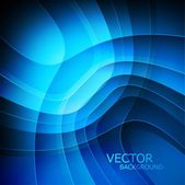Abstract technology blue swirl shiny wave background vector — ストックベクタ
