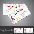 Music notes stylish business card set vector illustration — Stok Vektör