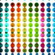Abstract halftone dotted multicolor circle background vector ill — Stock Vector