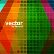 Abstract bright colorful circle halftone texture background vect — Stock Vector