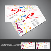 Music notes stylish business card set vector illustration — Cтоковый вектор