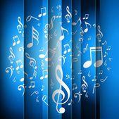 Abstrakte musik noten hell blau farbigen hintergrund vektor — Stockvektor