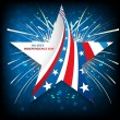 4th July American Independence Day star in American Flag celebra — Stock Vector
