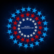 4th July American Independence Day star blue background vector i — Stock Vector