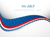 4. juli amerikanischen unabhängigkeitstag kreative wellenvektor — Stockvektor
