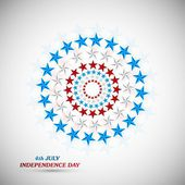 4th July American Independence Day star background vector illust — Stock Vector