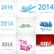 Vector artistic Beautiful celebration new year set collaction co — Stock Vector