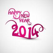 Happy new Year 2014 beautiful stylish text creative vector — Stock Vector
