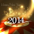 New year for 2014 text colorful background illustration vector — Stock Vector