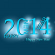 Beautiful elegant blue colorful new year 2014 card background — Stock Vector