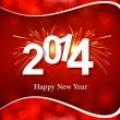 Beautiful new year 2014 colorful background vector — Stock Vector