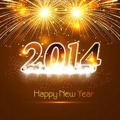 Nouvel an pour brillant 2014 célébration fond coloré clair c — Vecteur