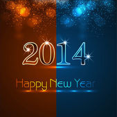Celebration shiny for new year 2014 colorful vector background — Vector de stock