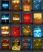 New year 2014 celebration template brochure collection presentat — Stock Vector