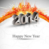 Celebration holiday colorful wave for new year 2014 design — Vetorial Stock