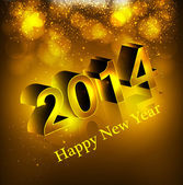 Happy new year background with shiny text 2014 vector — Stock Vector