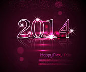 Celebration holiday shiny for 2014 new year background vector — Vetorial Stock