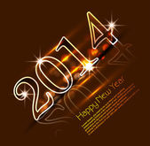 Celebration shiny for 2014 new year holiday background vector — Vetorial Stock