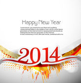 New year for 2014 celebration design illustration vector — Stock Vector
